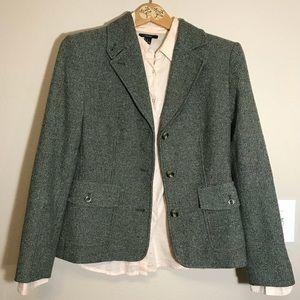 NWOT Silk Wool Tweed Herringbone Blazer Jacket